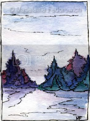 Foggy Forest ACEO