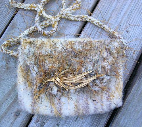 Golden Leaves Strappy Sassy Bag