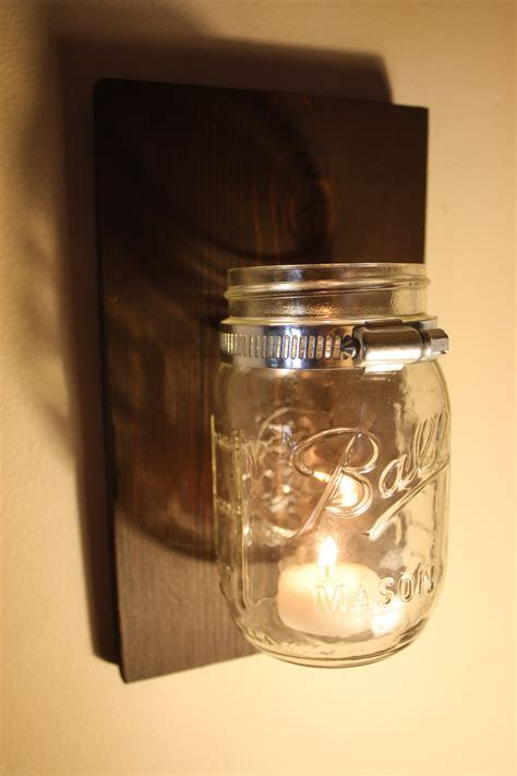 29  DIY Mason Jar Candles and Holders   Guide Patterns
