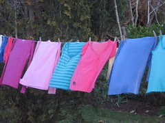 My colourful washing line