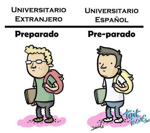 universitario, universidad en españa, universitario español, pre-parado, estudiar en españa