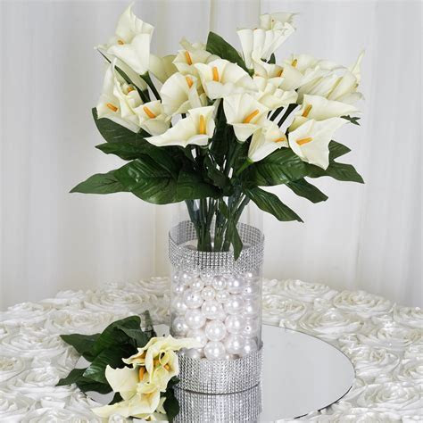 84 Silk Calla Lily Flowers for Wedding Bouquets