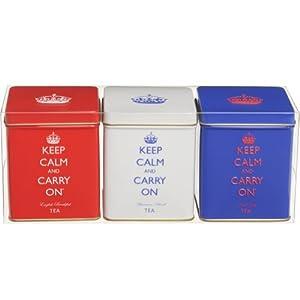 Mini Tea Tin Set - Funky Kitchen Accessories - Set of 3 Funky Tins