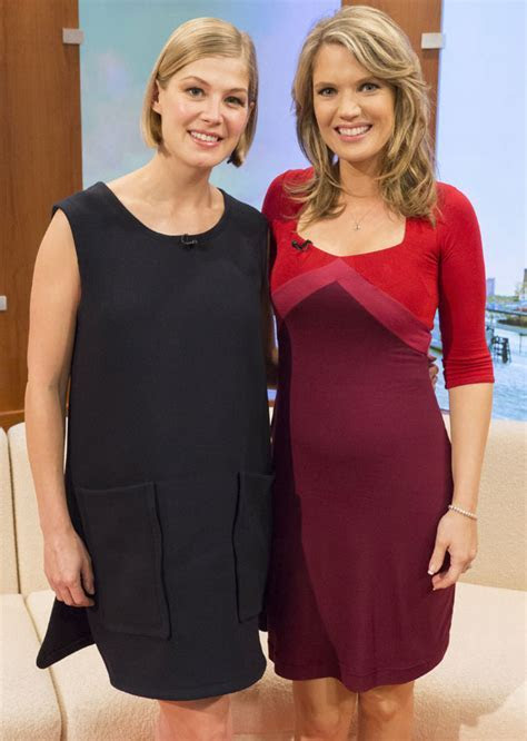 Pregnant Charlotte Hawkins And Gone Girl Star Rosamund
