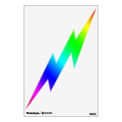 Lightning Bolt Decal - Color Spectrum Room Sticker