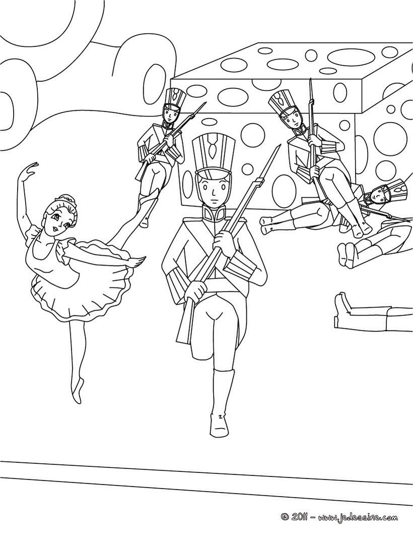 Le sto¯que soldat de plomb et sa ballerine Coloriage Coloriage de CONTES CELEBRES