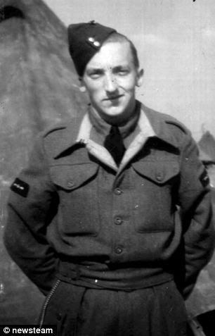 Hero: Mr Coombs served as an RAF mechanic in Singapore during World War Two