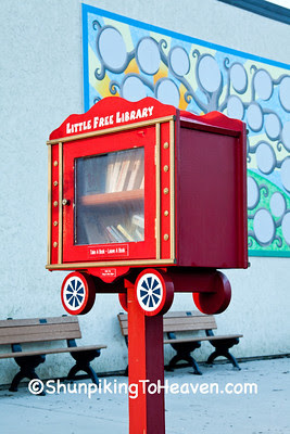 Little Free Library (Circus Wagon), Baraboo, Wisconsin