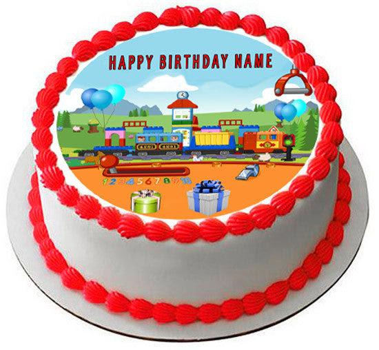 Birthday boy Custom name Train Theme Cake Topper 1st Birthday. First Birthday Train Party Birthday Boy Train Decoration Birthday Decorations Birthday Cake Topper.Custom birthday name and age