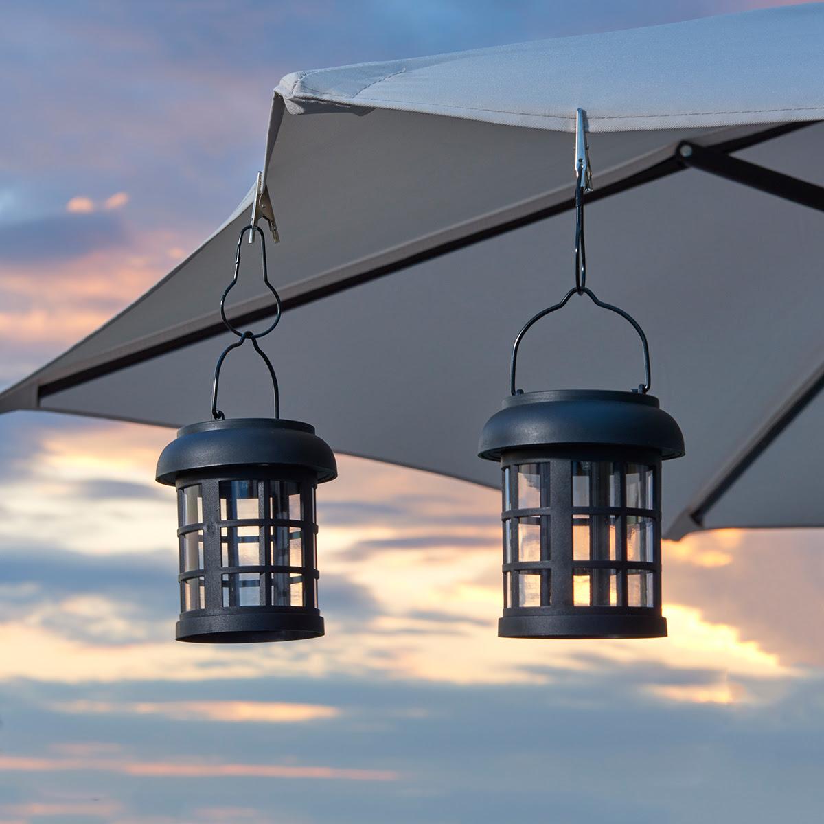 Smart Solar Hanging Lantern Umbrella Decor Lights - Set of ...