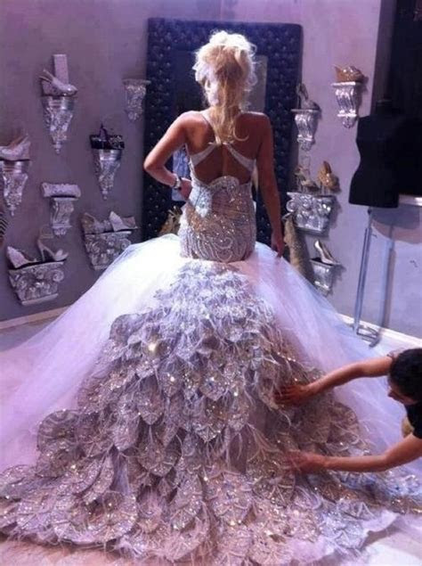 17 Best images about Blinged out wedding dresses on