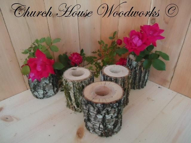 5 Qty Tree Branch Vase Log Flower Holder For Rustic Weddings Country Weddings Rustic Center Piece 2577586 Weddbook