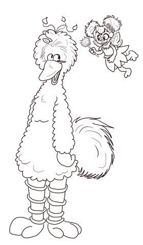 61 Coloring Pages Of Big Bird  Images