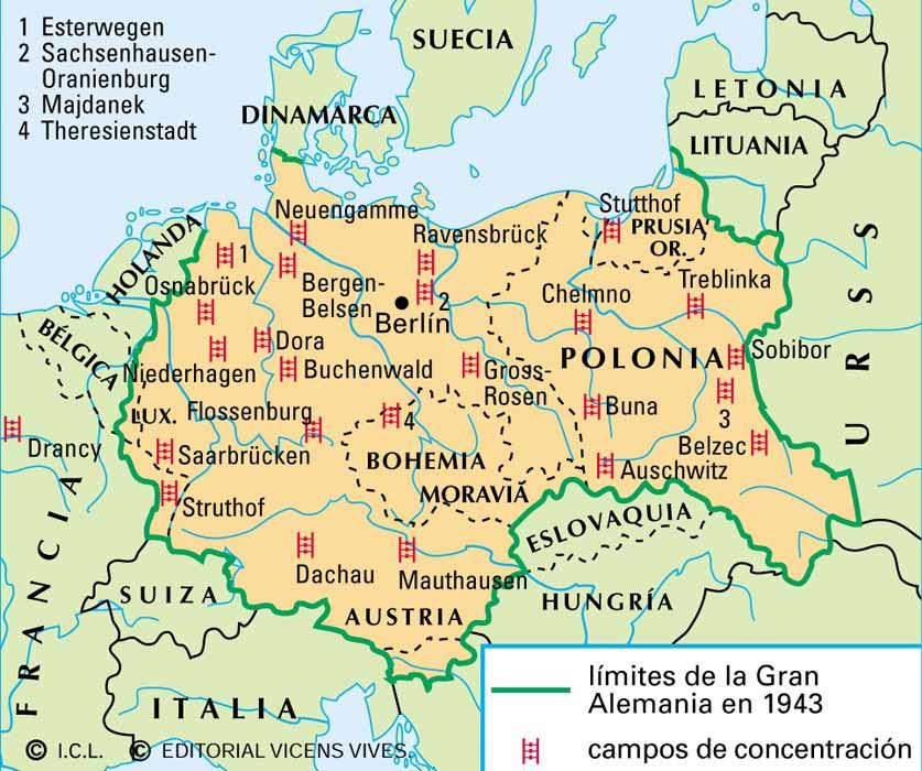Resultado de imagen de mapa campos concentracion nazis