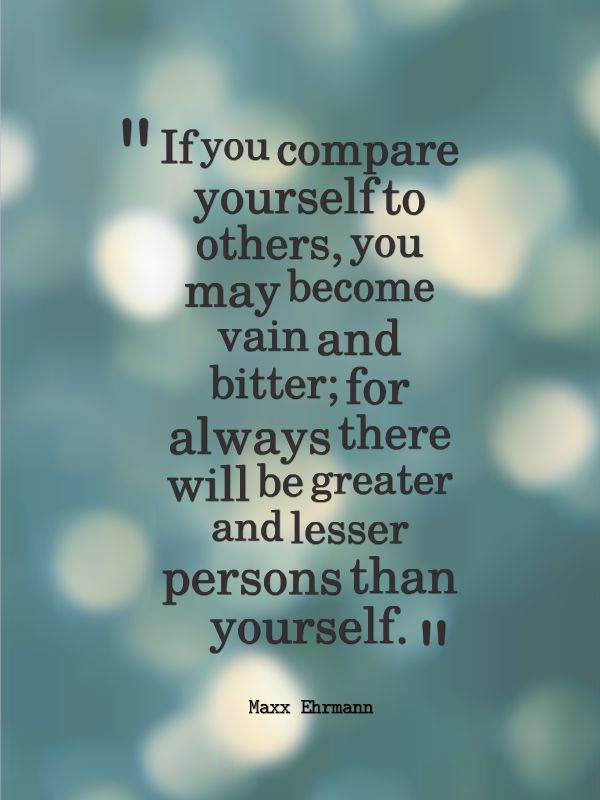 Comparing Yourself To Others Quotes. QuotesGram