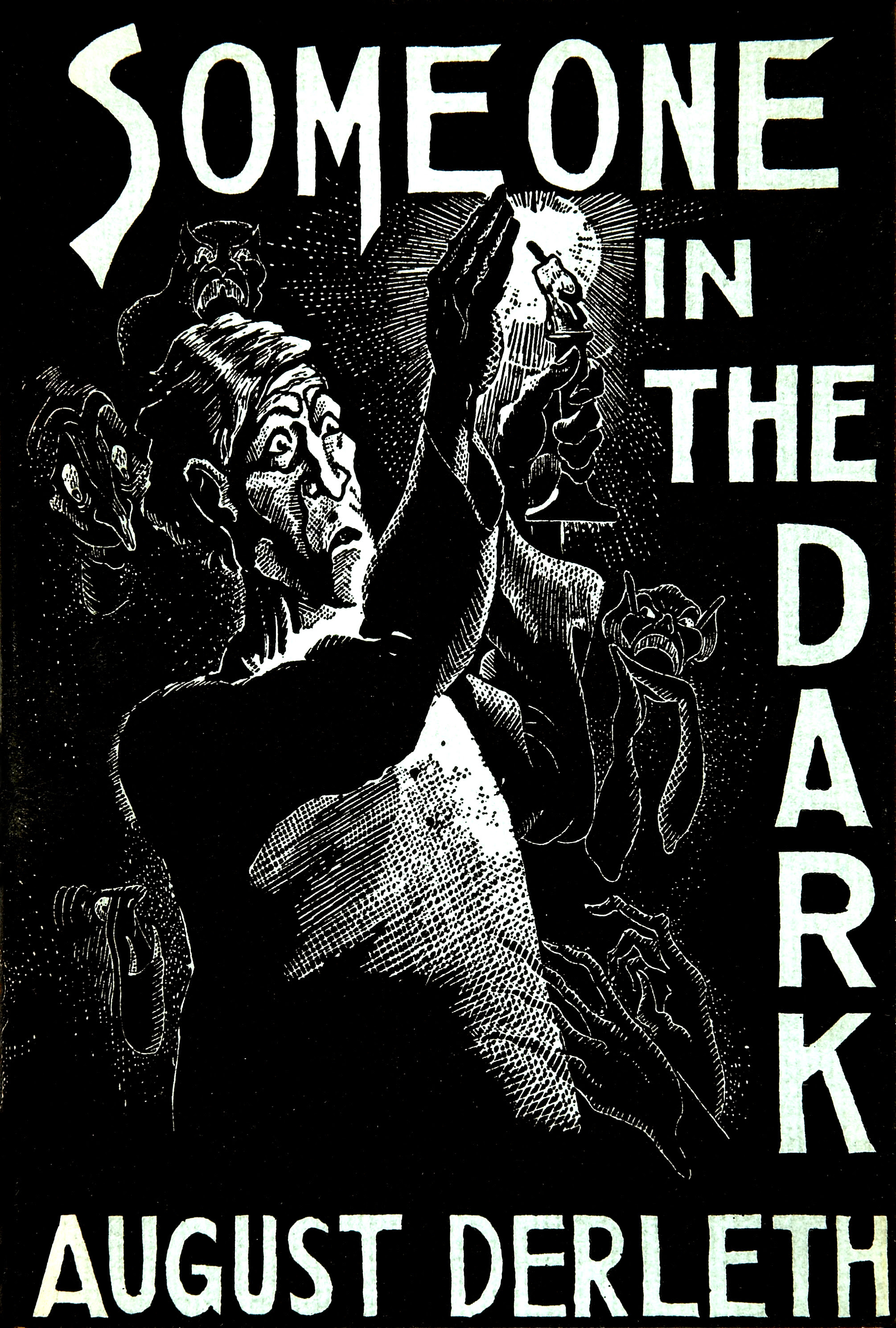 Frank Utpatel cover for August Derleth's Someone in the Dark, Arkham House, 1941