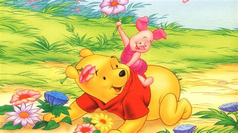 piglet  winnie  pooh spring flowers cartoon disney