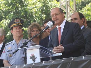 Alckmin fez anúncio em Mogi das Cruzes, na Grande SP (Foto: José Luís da Conceição/ Divulgação)