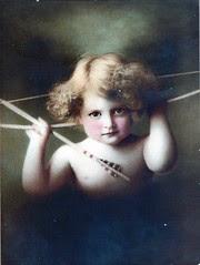 Cupid  Awake ~ Antique Lithograph