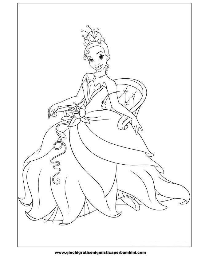 La Principessa E Il Ranocchio Disegni Da Colorare