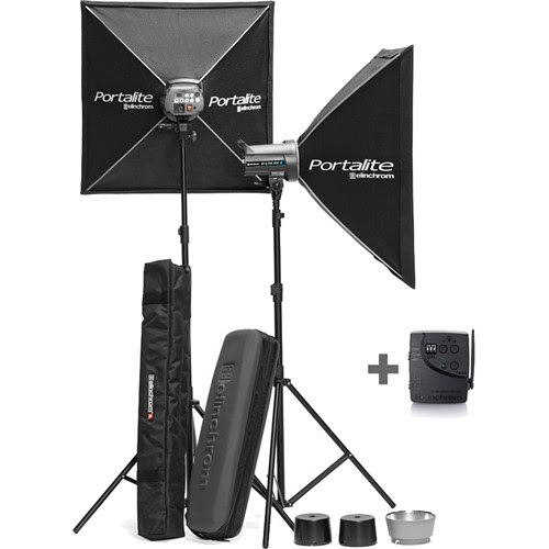 Elinchrom D-Lite RX 4 2-Light To Go Kit with Stands and Bags