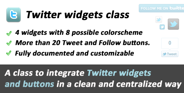 Twitter Widgets and Buttons class