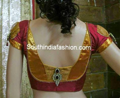back neck blouse designs for silk sarees