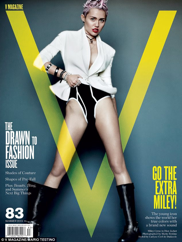 Ooh la la: Miley graces three different covers for the magazine, all of which are extremely racy