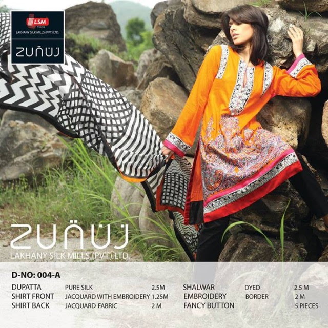 Beautiful-Cute-Girls-Models-Wear-Summer-Eid-Dress-Collection-2013-Lakhani-Silk-Mills-17