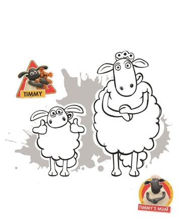 Kids N Fun Com 15 Coloring Pages Of Shaun The Sheep