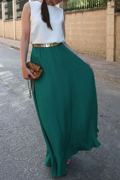 Sleeveless Color Block Round Neck Maxi Dress