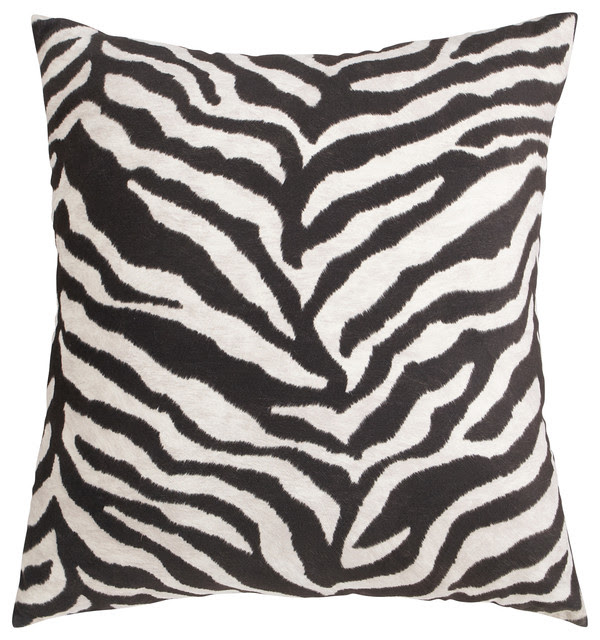 Oversized Zebra Pillow - contemporary - pillows - other metro - by