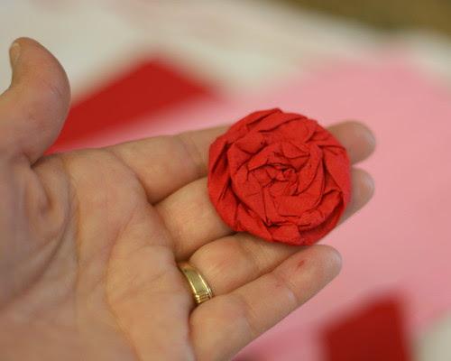 Napkin Paper Rose