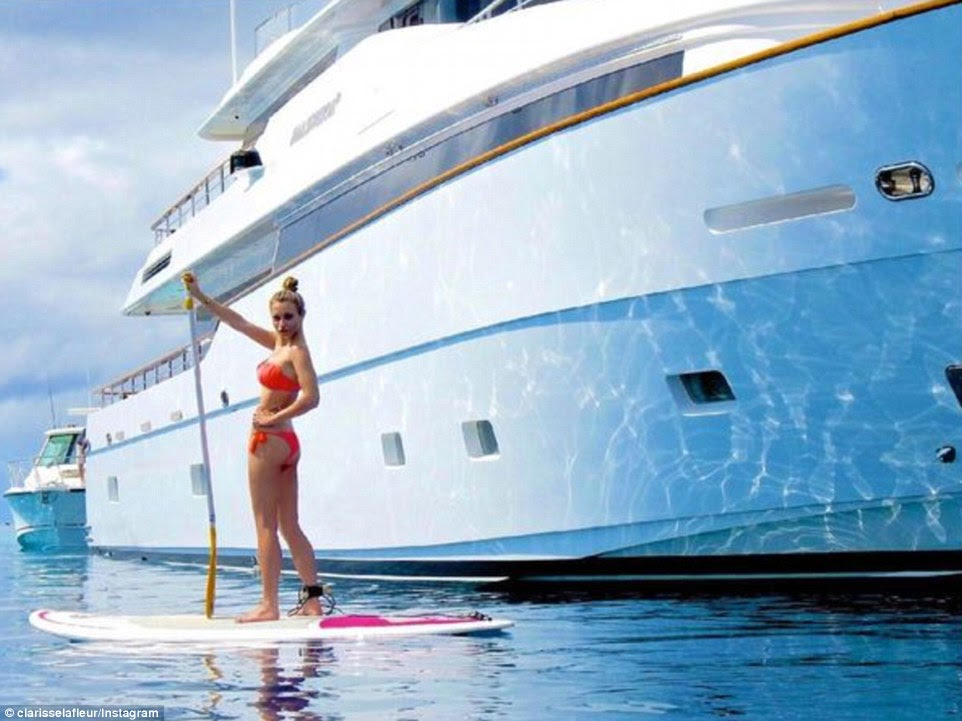 While others froze or tried to stay dry during El Nino, Rich Kid of Instagram Clarisse La Fleur was paddle boarding and lounging on a sun-soaked yacht in the Pacific Ocean before heading to Australia