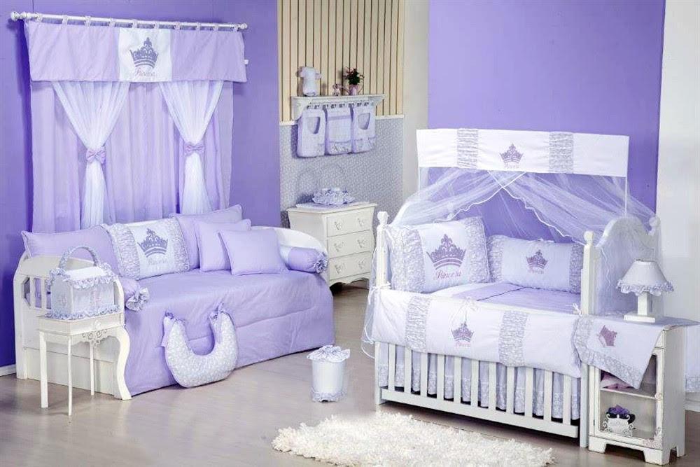 Resultado de imagem para decoração de quarto de bebe lilas