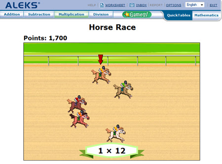 Student QuickTables Games