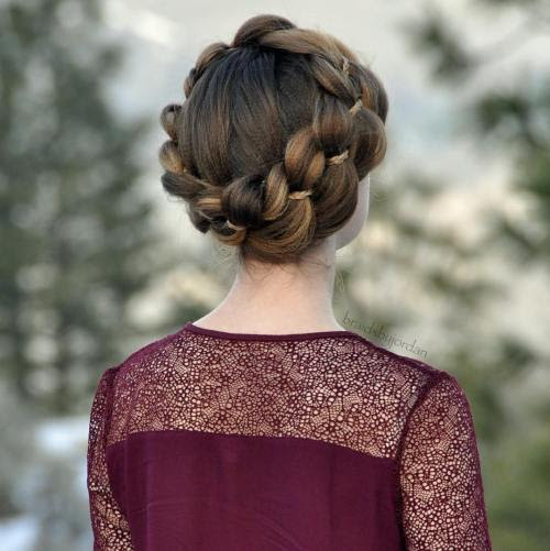 20 Fancy Hairstyles with Four Strand Braids