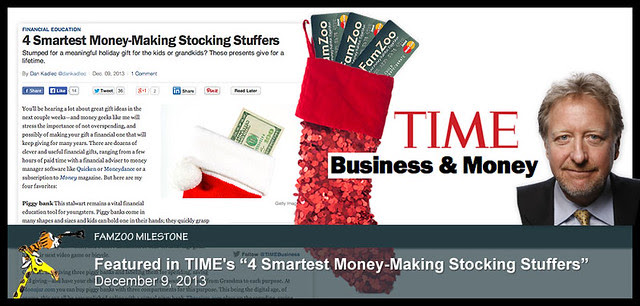 "FamZoo featured in TIME's ""4 Smartest Money-Making Stocking Stuffers"""