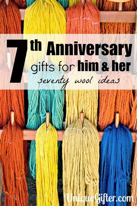 70  Wool 7th Anniversary Gifts   For Him and Her   Unique