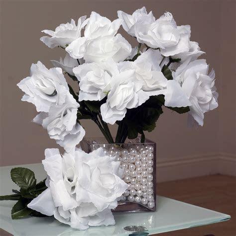 252 Silk Open Roses Wedding Flowers Bouquets Wholesale