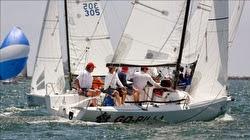 J/70s sailing regatta