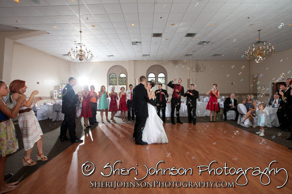 Bride and Groom's first dance in the ballroom at Marswood Hall