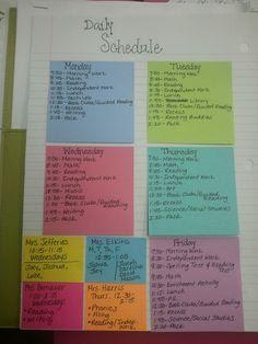 Daily Schedule Book   Daily Agenda Calendar