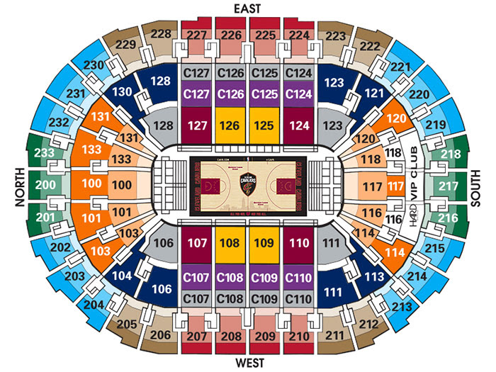 Cavs Seating Chart Gallery Of Chart 2019