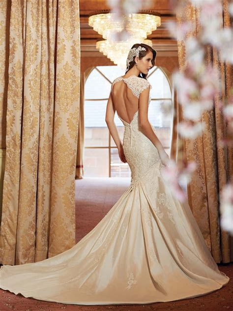 Silk Backless Wedding Dresses   Dresscab