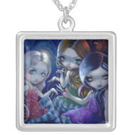 The Three Fates NECKLACE gothic fairy goddess necklace