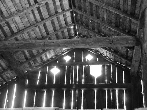 cantilever barn interior