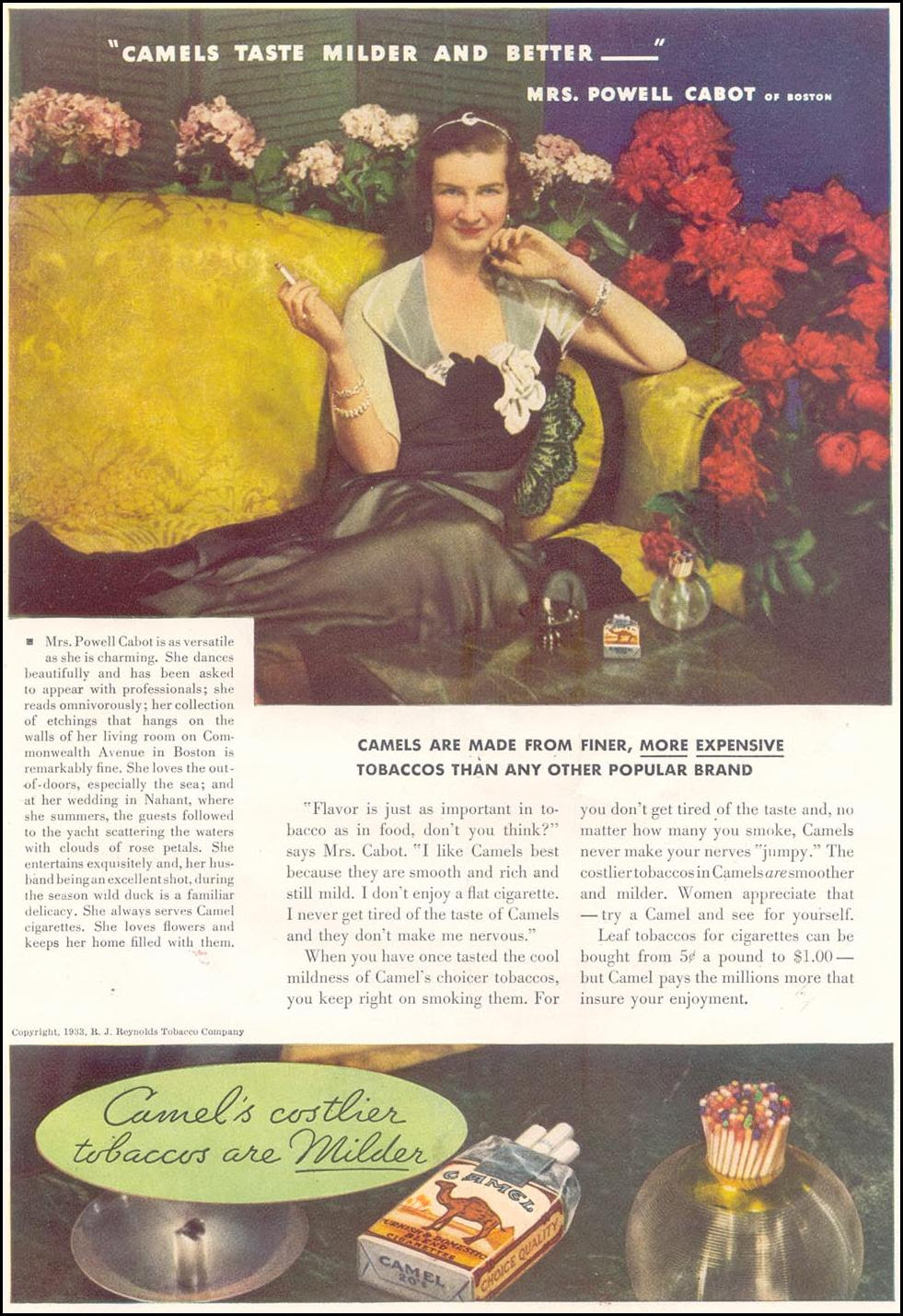 CAMEL CIGARETTES GOOD HOUSEKEEPING 11/01/1933