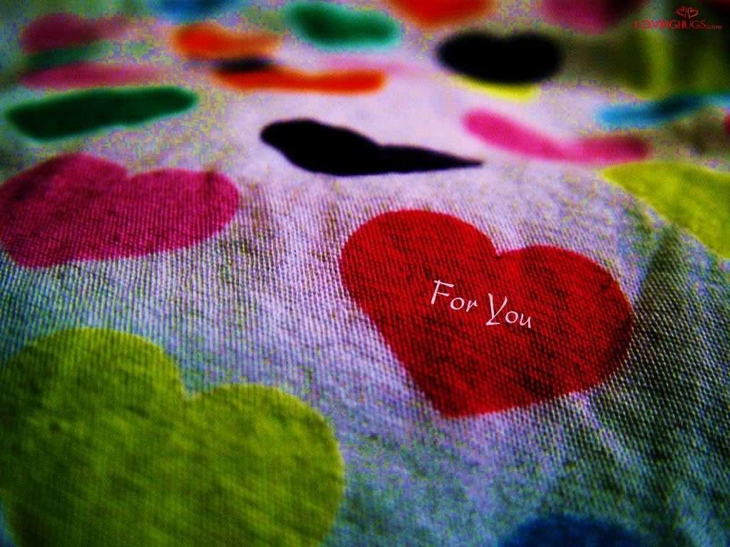 صورة قلب For You على السرير