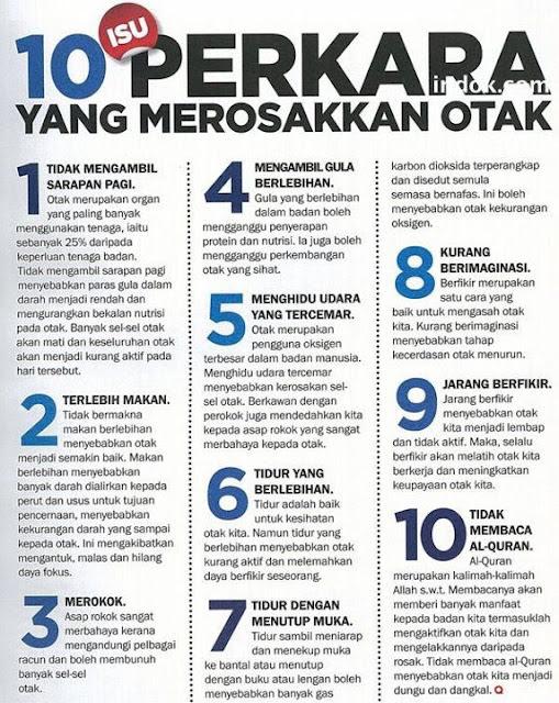 10 Perkara Yang Merosakkan Otak Manusia. SQ